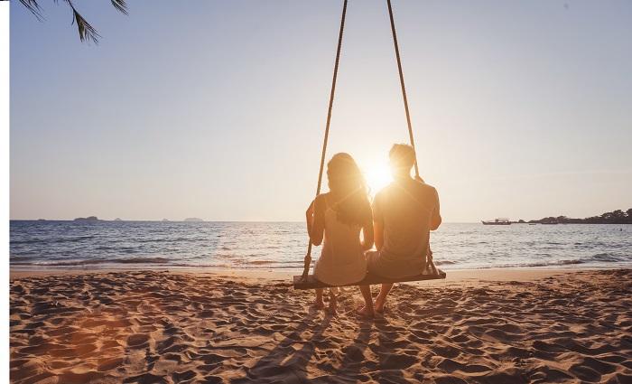 Couple on honeymoon